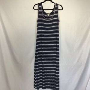 Coldwater Creek Maxi Dress Striped Size 12